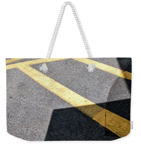 Weekender Tote Bag featuring the photograph Lot Lines by Eric Lake
