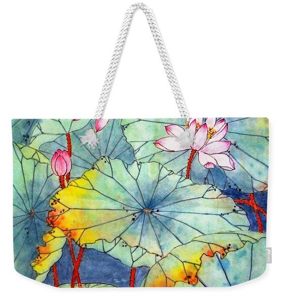 Lotus #2 Weekender Tote Bag