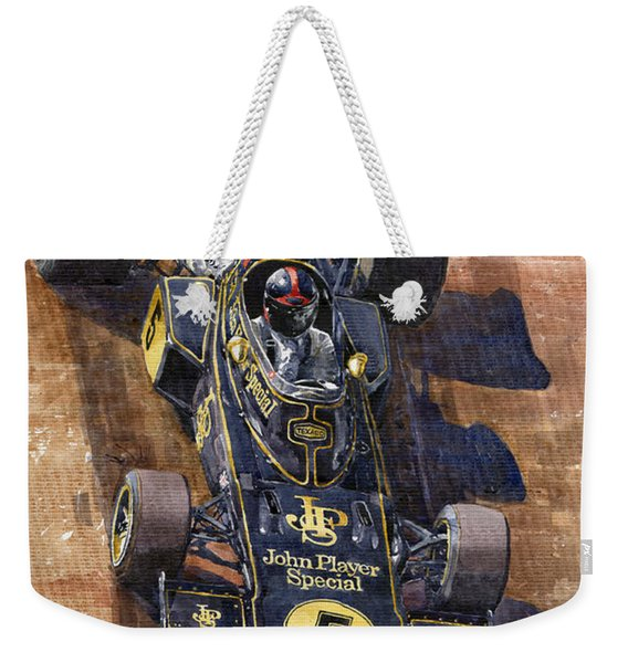 Lotus 72 Canadian Gp 1972 Emerson Fittipaldi  Weekender Tote Bag