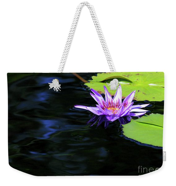 Lotus And Dark Water Refection Weekender Tote Bag