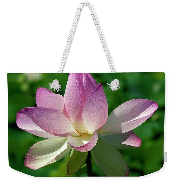 Lotus Bud--getting The Hang Of It Iv Dl0096 Weekender Tote Bag
