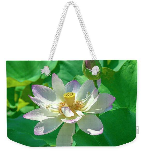 Lotus--fading I Dl0079 Weekender Tote Bag