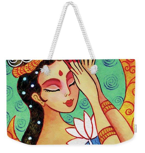 Lotus Meditation Weekender Tote Bag