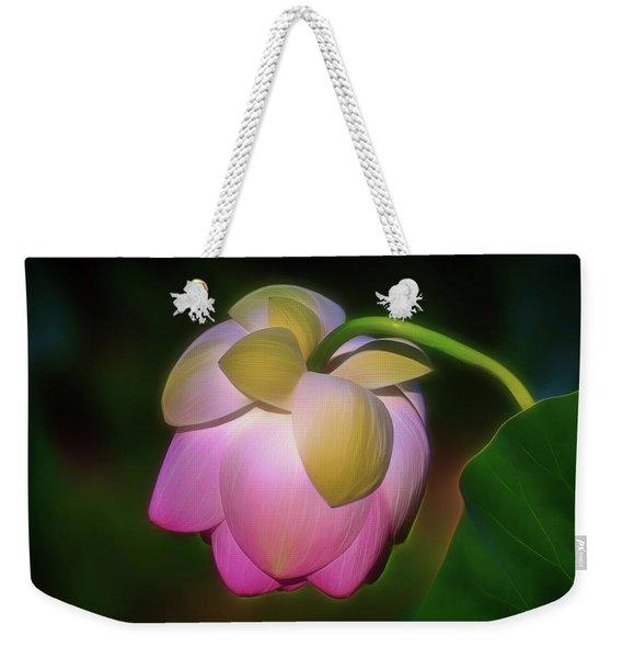Lotus, Upside Down  Weekender Tote Bag
