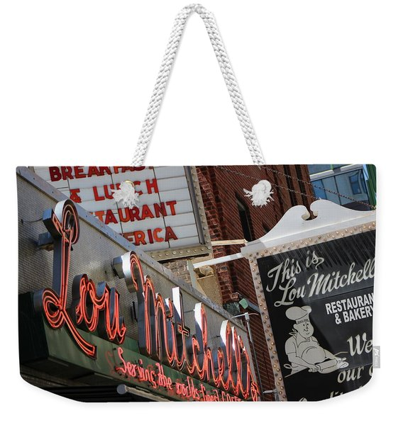 Lou Mitchells Restaurant And Bakery Chicago Weekender Tote Bag