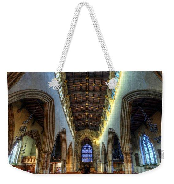 Loughborough Church - Nave Vertorama Weekender Tote Bag