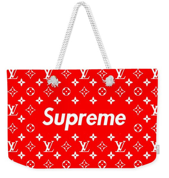 Louis Vuitton X Supreme Weekender Tote Bag