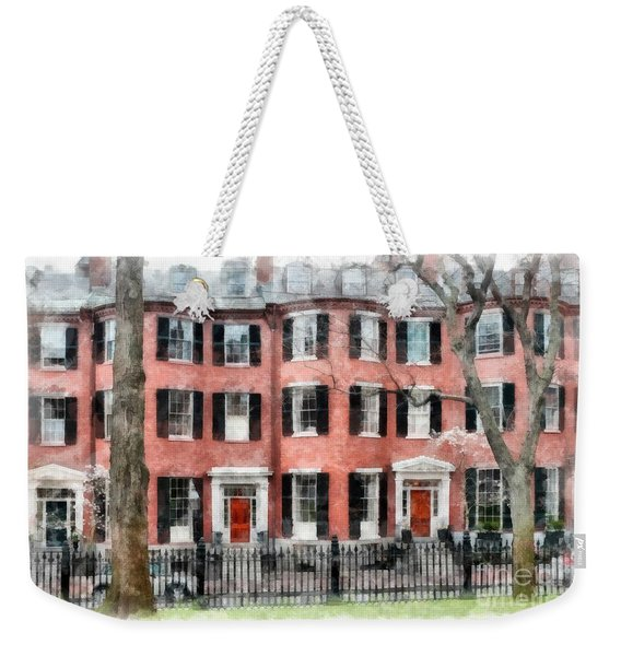 Louisburg Square Beacon Hill Boston Weekender Tote Bag