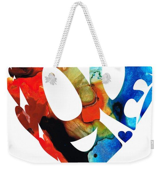 Love 8 - Heart Hearts Romantic Art Weekender Tote Bag