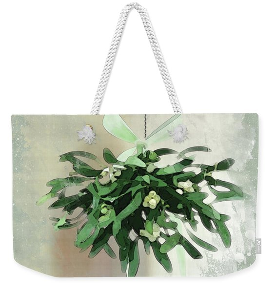 Weekender Tote Bag featuring the digital art Love And Joy by Gina Harrison