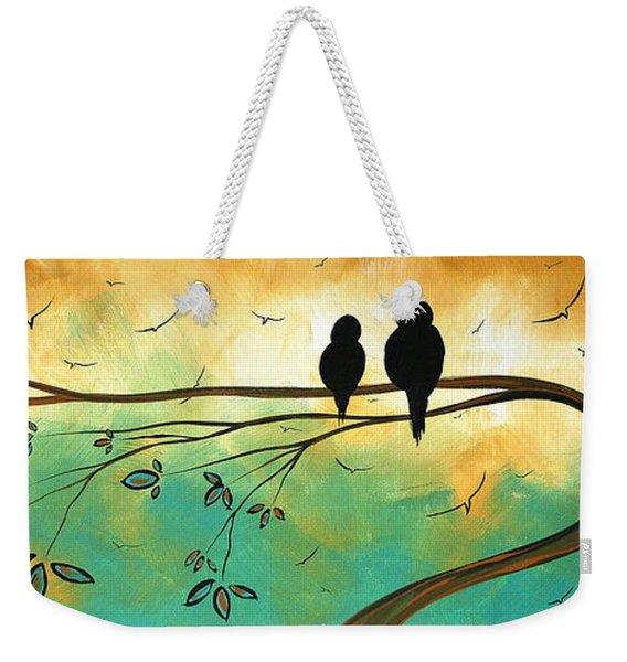 Love Birds By Madart Weekender Tote Bag