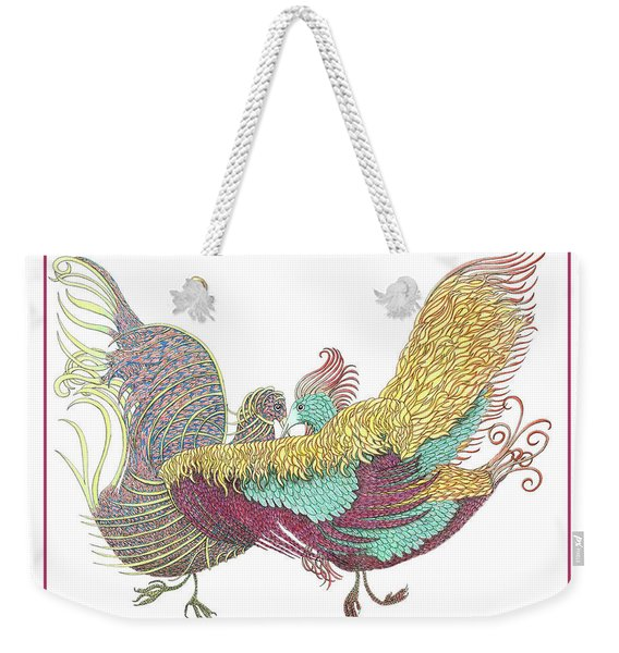 Love Birds Dancing Weekender Tote Bag