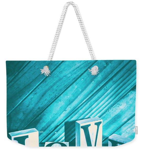 Love Blues Weekender Tote Bag