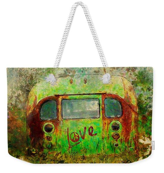 Love Bus Weekender Tote Bag