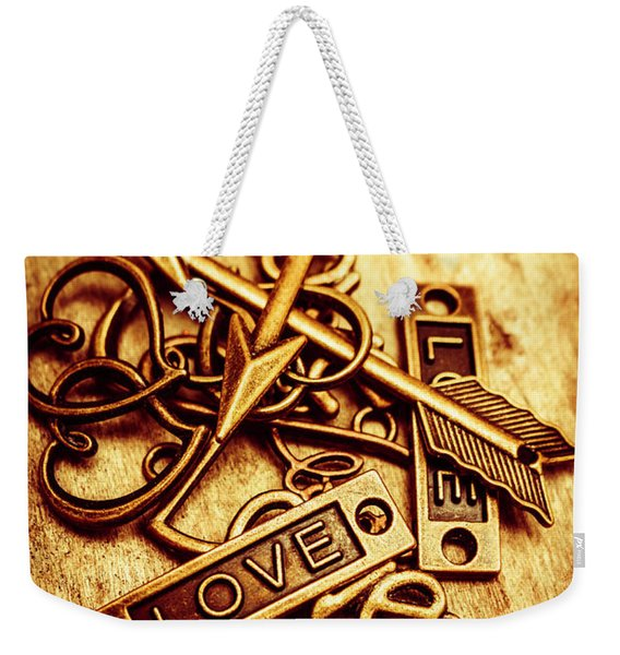 Love Charms In Romantic Signs And Symbols Weekender Tote Bag