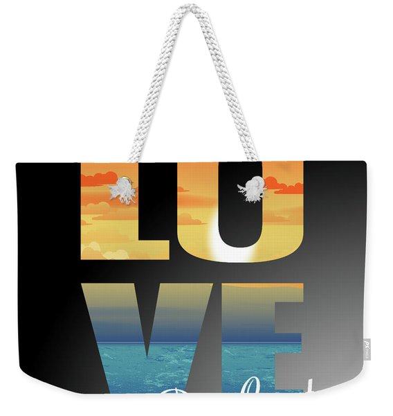 Love Door County Weekender Tote Bag