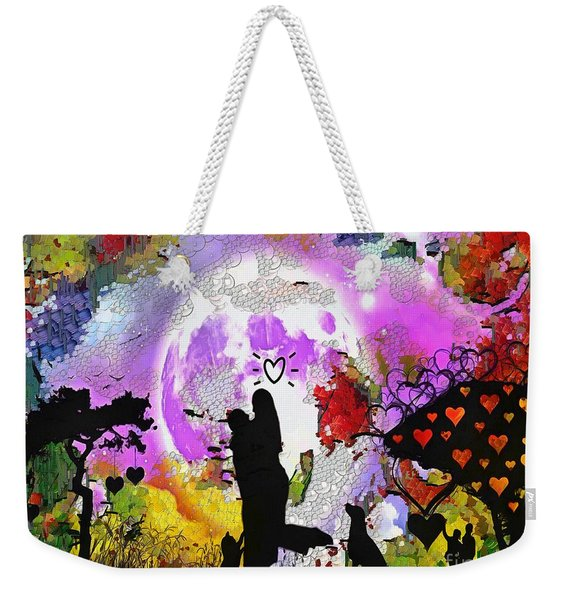 Love Family And Friendship In The Mix Weekender Tote Bag
