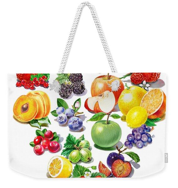 Love Fruits And Berries Weekender Tote Bag