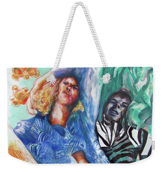Love Hurts And Even Zebra's Fall Down Weekender Tote Bag
