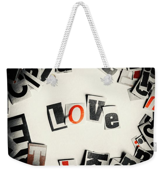 Love In Letters Weekender Tote Bag