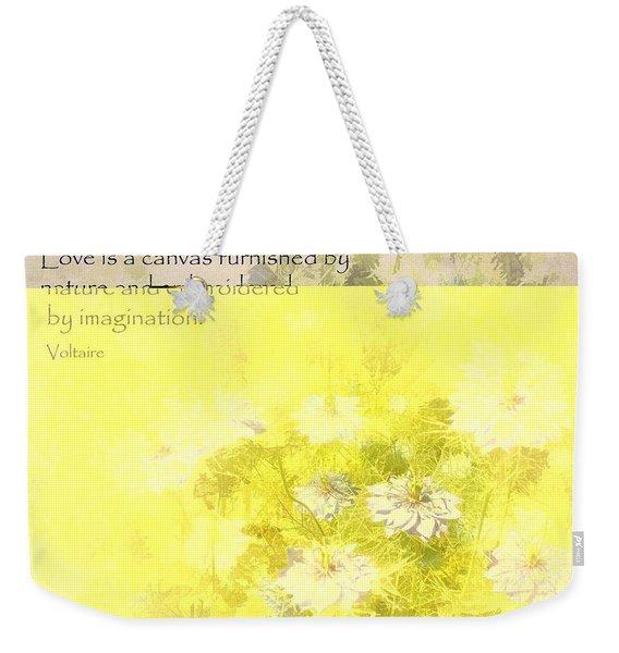 Love Is A Canvas - Nigella Damascena Weekender Tote Bag
