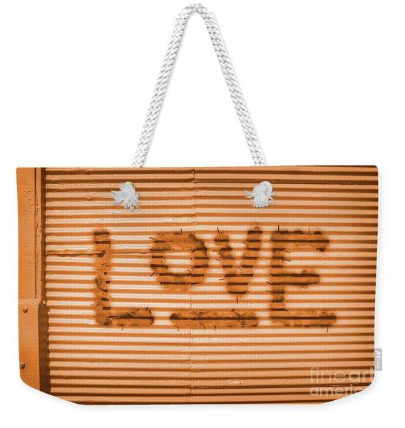 Love Is All Weekender Tote Bag