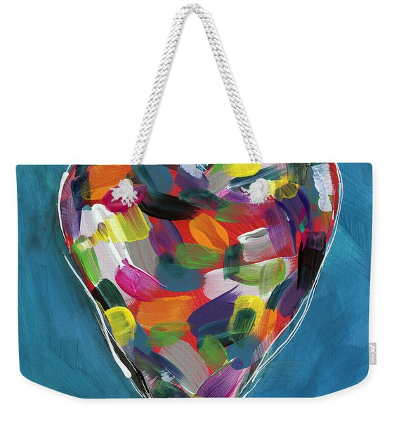 Love Is Colorful In Blue- Art By Linda Woods Weekender Tote Bag