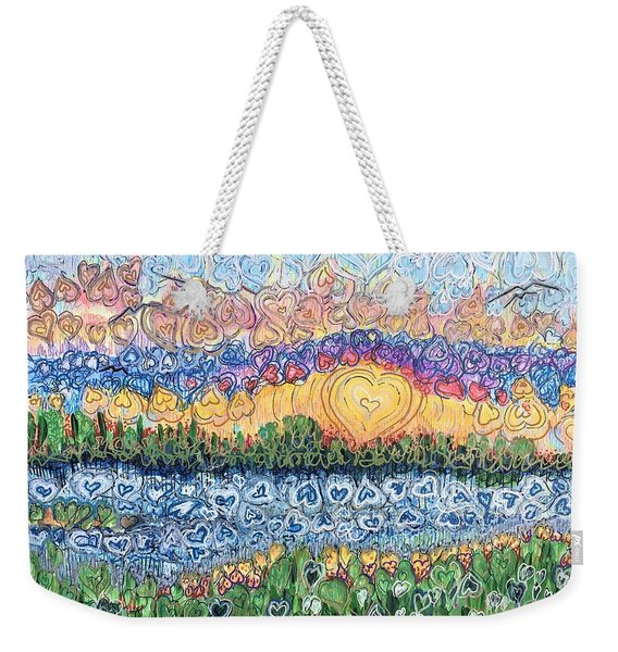Love Is Everywhere If You Look Weekender Tote Bag