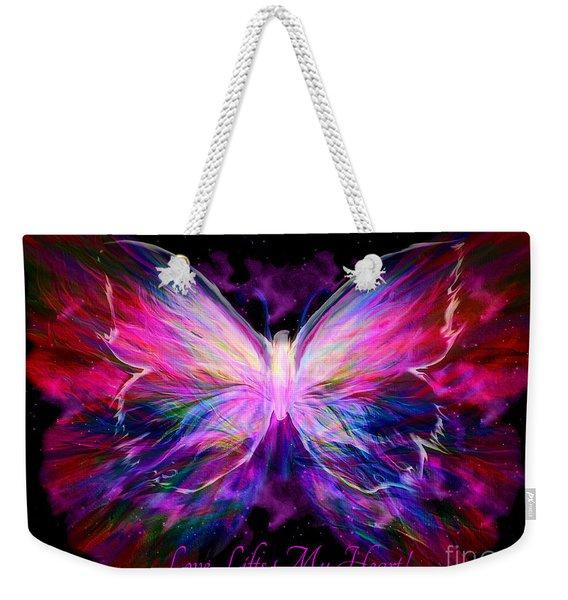 Love Lifts My Heart Weekender Tote Bag