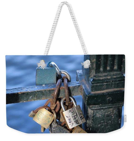 Love Lock Weekender Tote Bag