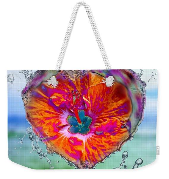 Love Makes A Splash Weekender Tote Bag