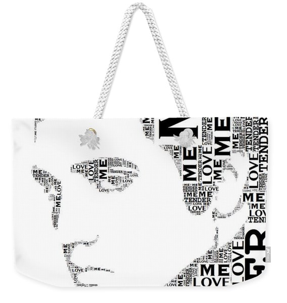 Love Me Tender Elvis Presley Wordart Weekender Tote Bag