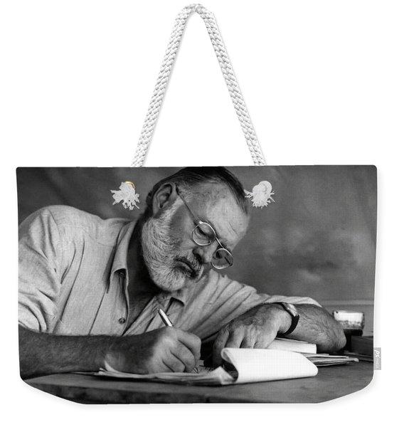 Love Of Writing - Ernest Hemingway Weekender Tote Bag