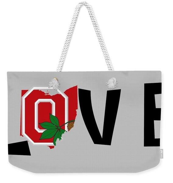 Love Ohio Weekender Tote Bag