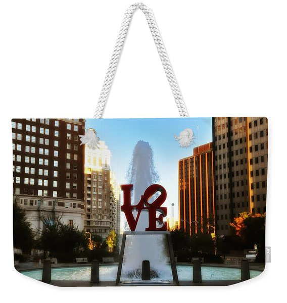 Love Park - Love Conquers All Weekender Tote Bag