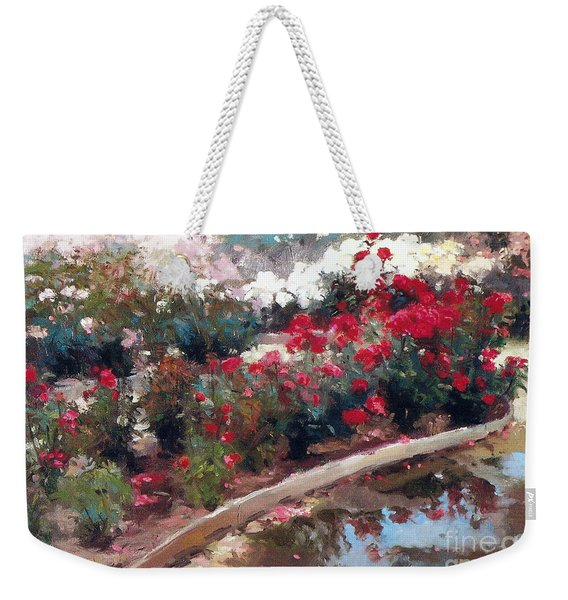 Weekender Tote Bag featuring the painting Love by Rosario Piazza