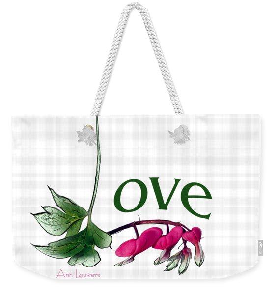 Love Shirt Weekender Tote Bag