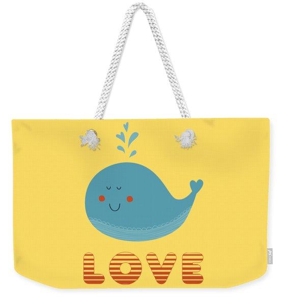 Love Whale Cute Animals Weekender Tote Bag