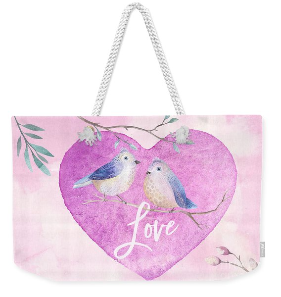 Lovebirds For Valentine's Day, Or Any Day Weekender Tote Bag