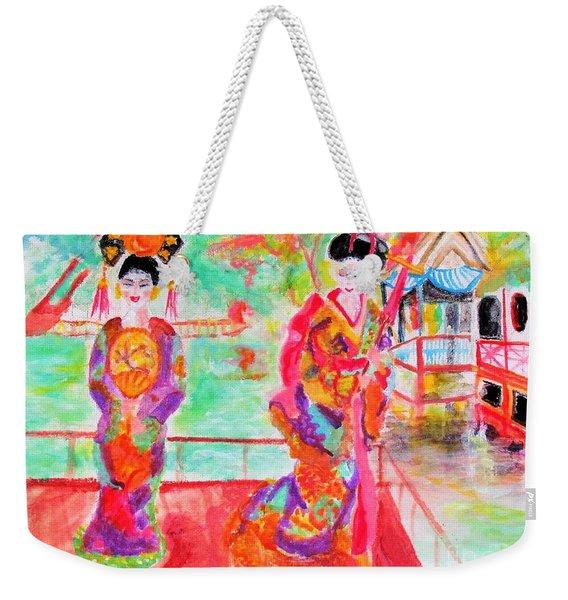 Lovely Asian Ladies Weekender Tote Bag