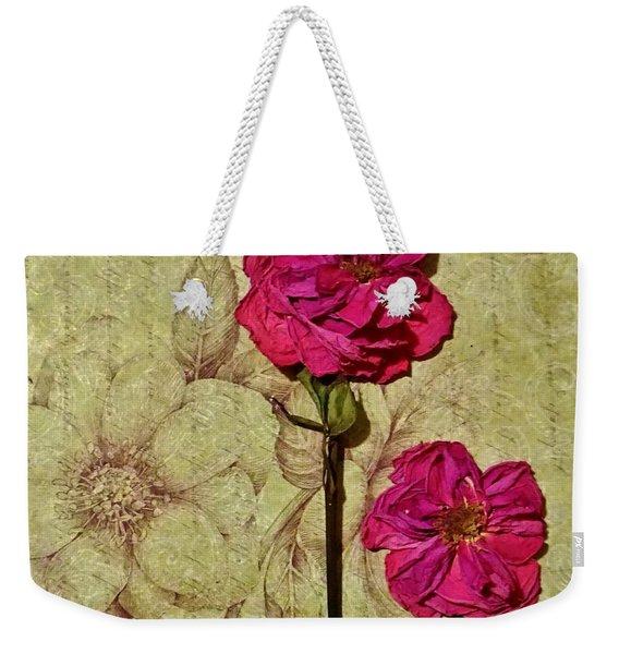 Lovely Dried Roses Weekender Tote Bag