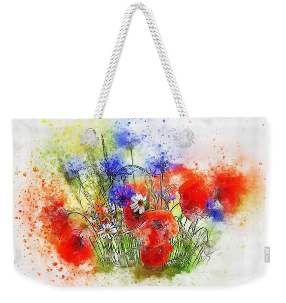Watercolour Bouquet Weekender Tote Bag