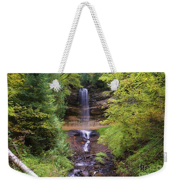 Lovely Munising Falls 2 Weekender Tote Bag