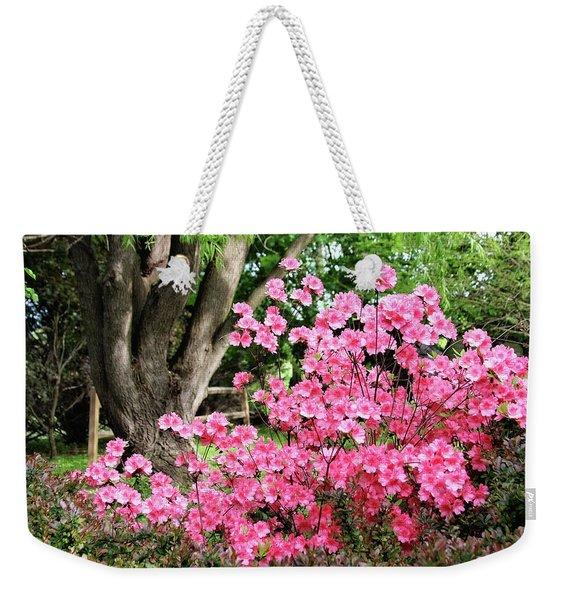 Lovely Pink Azalea Weekender Tote Bag
