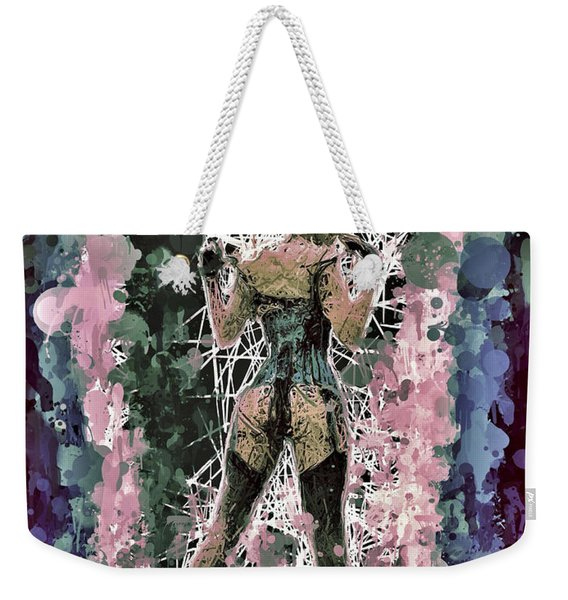 Weekender Tote Bag featuring the mixed media Lovely Silhouette by Al Matra