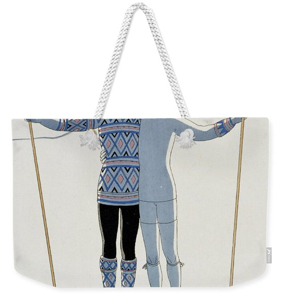 Lovers In The Snow Weekender Tote Bag