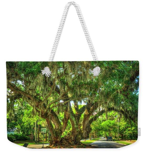 Lovers Oak Live Oak Tree Brunswick Georgia Art Weekender Tote Bag