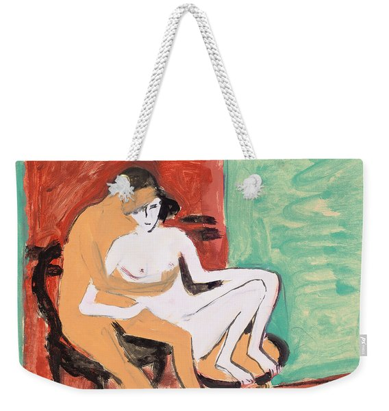 Lovers Or Young Couple Weekender Tote Bag