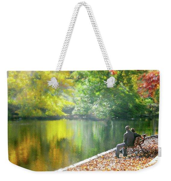 Love Leaf Weekender Tote Bag