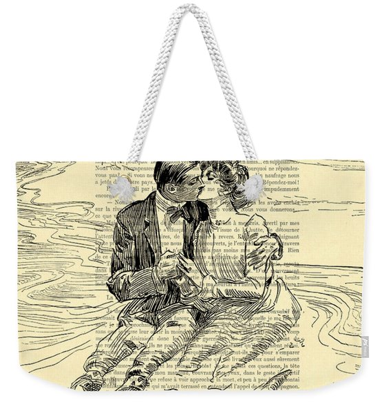 Loving Couple By The Sea Weekender Tote Bag